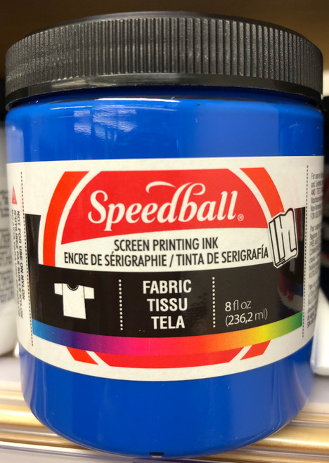 624562, Fabric Screen Printing Ink,  8oz.    Blue