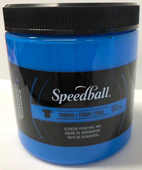 6245654, Fabric Screen Printing Ink,  8oz.    Fluorescent Blue