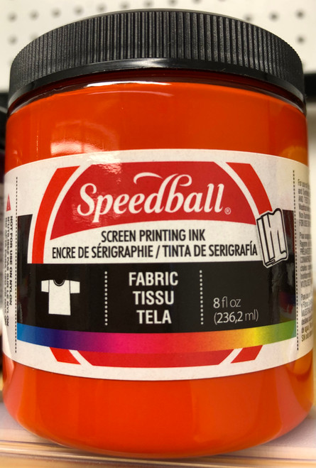 624569, Fabric Screen Printing Ink,  8oz.    Orange