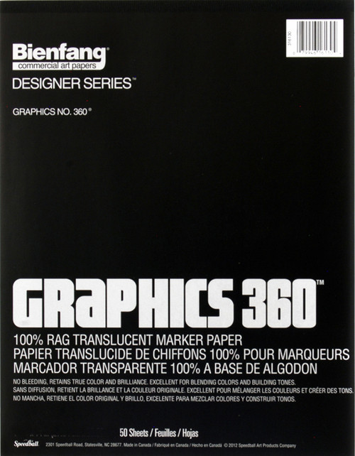 "341178, Graphics 360, 9"" x 12"" 50 sheets"