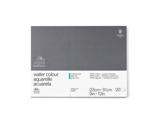 "346463, W & N Pro Watercolor Block,Cold Press, 9"" x 12"" 20 sheets"
