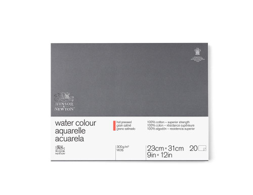 "346467, W & N Pro Watercolor Block,Hot Press, 9"" x 12"" 20 sheets"