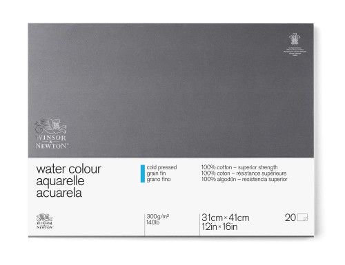 "346465, W & N Pro Watercolor Block,Cold Press, 12"" x 16"" 20 sheets"