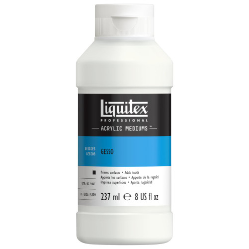 373151, Liquitex Gesso, White, 8 oz