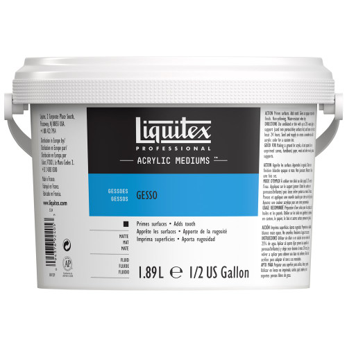 373152, Liquitex Gesso, White, 64 oz