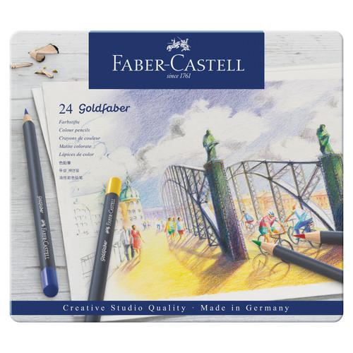 448151, Faber-Castell Goldfaber Colored Pencil Set, 24 pc set