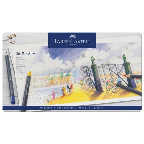 448152, Faber-Castell Goldfaber Colored Pencil Set, 36 pc set