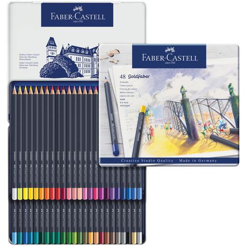 448153, Faber-Castell Goldfaber Colored Pencil Set, 48 pc set