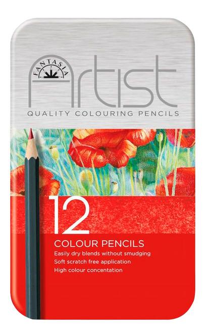 446009, Fantasia Premium Aritst Color Pencils, 12 pc set