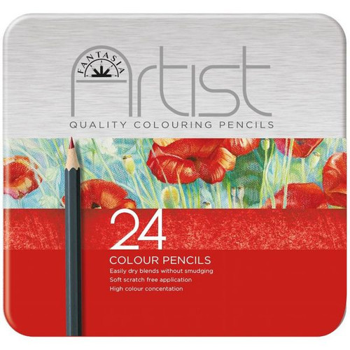 446010, Fantasia Premium Aritst Color Pencils, 24 pc set