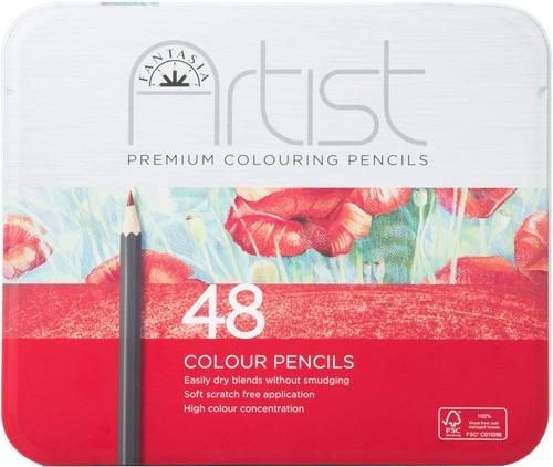 446012, Fantasia Premium Aritst Color Pencils, 48 pc set