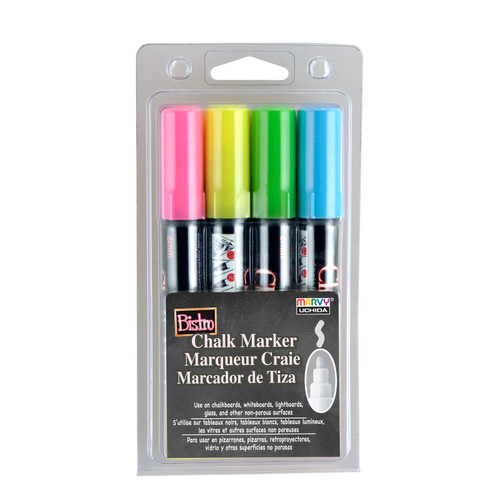 438300, Bistro Chalk Markers, Broad, 4 pack