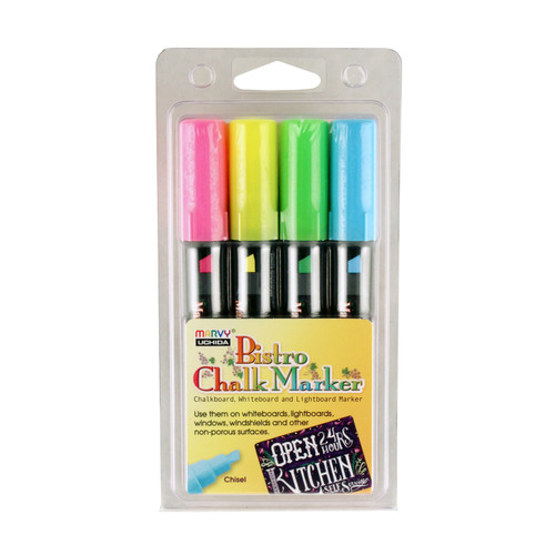 438302, Bistro Chalk Markers, Chisel, 4 pack
