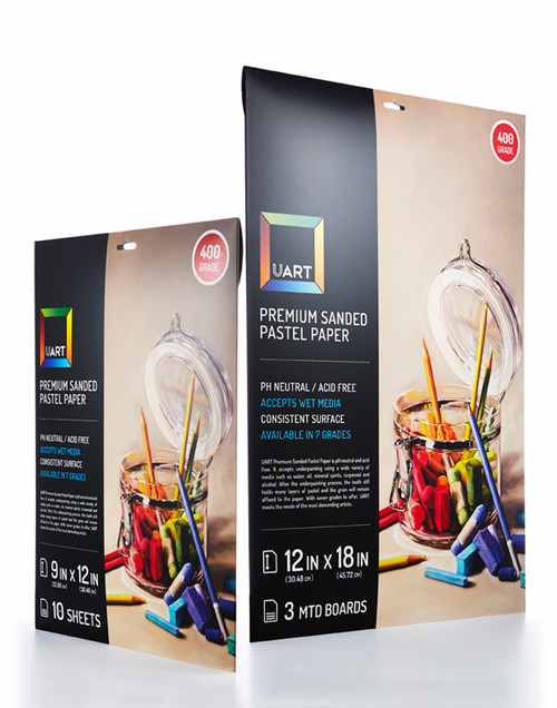 343701, Uart Premium Sanded Paper #500, 9x12, 10 Sheet