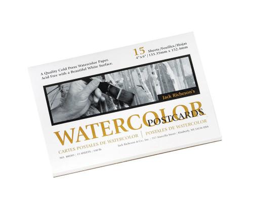 "341021, Watercolor Postcards Pad, 4""x6"", 135# Cold Press, 15 Sheets"