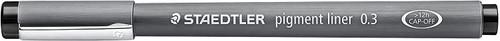 431804, Staedtler Pigment Liner, Black, 0.3