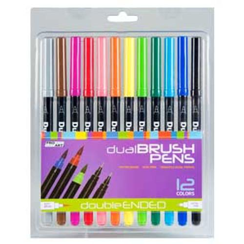 432160, Dual Brush Pen Set, 12 pc