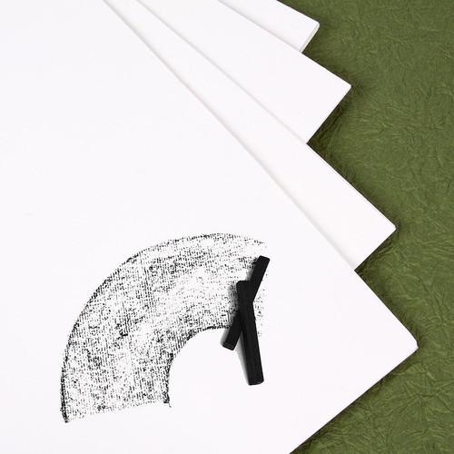 "341025, Richeson Laid White Charcoal Paper #70, 19""x25"", 100 Sheet Pkg."