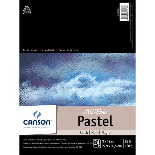 """341577, Canson Mi-Teintes Black Pad, 9""""x12"""", 24 Sheets"""