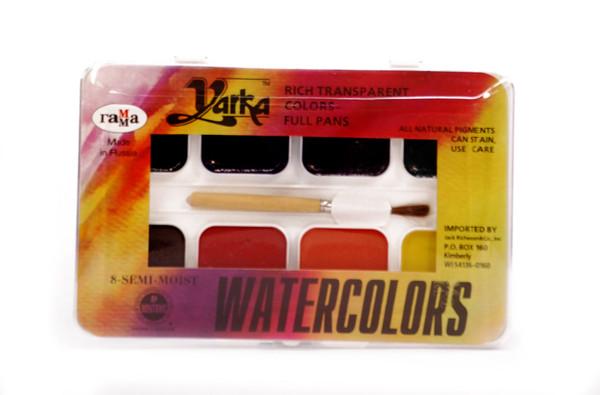 374480, Yarka Student Watercolor Set, 8 color full pan
