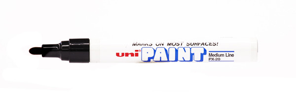 438030, Uni-Paint Marker, Medium Tip, Black