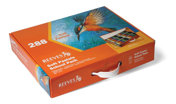 447703, Reeves Soft Pastel, School Pack, 288 pieces, 24ea of 12 colors