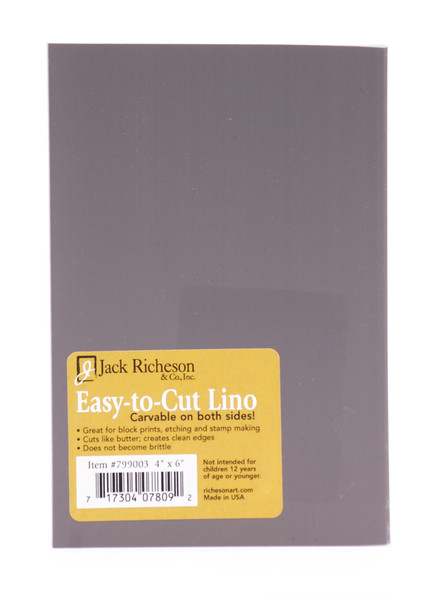 "624006, Richeson ""Easy to Cut"" Linoleum,Unmounted Blocks, 4""x6"""