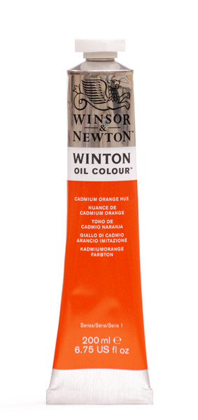 372669, Winton Oil Colour, Cadmium Orange Hue, 200ml.