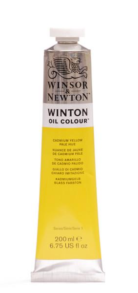 372678, Winton Oil Colour, Cadmium Yellow Pale Hue, 200ml.