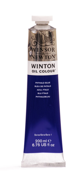 372701, Winton Oil Colour, Phthalo Blue, 200ml.