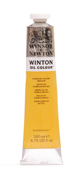 372677, Winton Oil Colour, Cadmium Yellow Medium, 200ml.