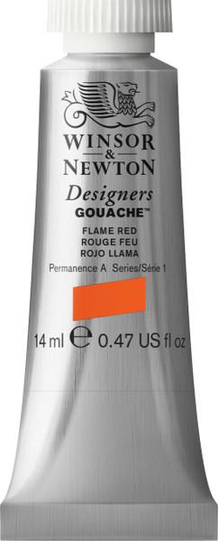 373401, Designers Gouache  14ml tube - Flame Red