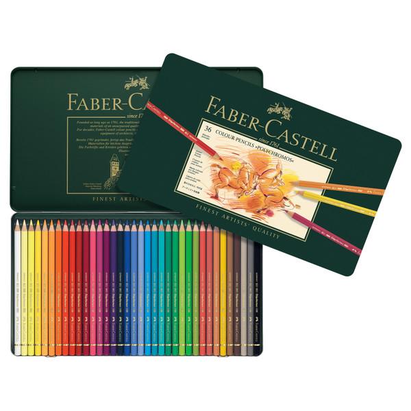 448002, Faber-Castell Polychromos Colored Pencil Set, 36 pc set