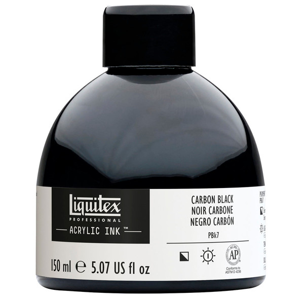 518240, Liquitex Ink, Carbon Black, 150 ml