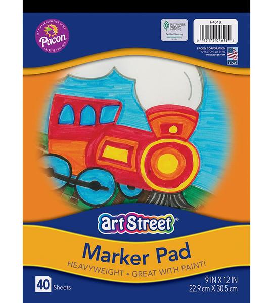 343055, Art Street Marker Pad, 9x12, 40/Sheets