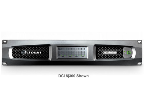 Crown Eight channel 300W @ 4 Ohm Analog Power Amplifier, 70V/100V, DCi8|300