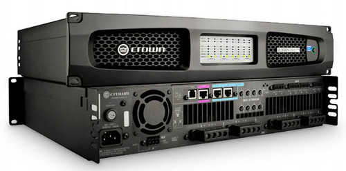 Crown Eight channel 300W @ 4 Ohm Power Amplifier with BLU Link, 70V/100V, DCi8|300N