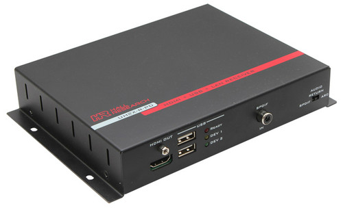 Hall Research  HDMI + USB + LAN over UTP Extender with HDBaseT and PoH (Receiver), UH2X-R-PD