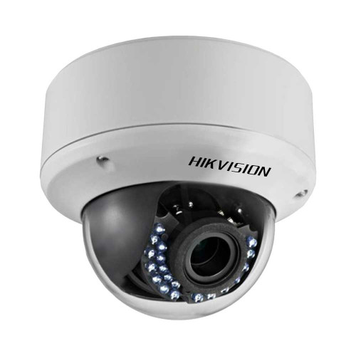 Hikvision Outdoor IR Dome, HD1080p, 2.8-12mm, 40m IR Day/Night, True WDR, Smart IR, UTC Menu, IP66, 24VAC/12VDC, Black Finish, DS-2CE56D5T-AVPIR3B