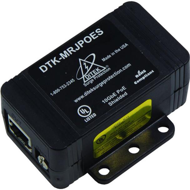 DITEK 10GbE PoE surge protector, DTK-MRJPOE