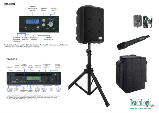 Teach Logic Titan-neo Wireless Handheld CD Player System Package, PA-825