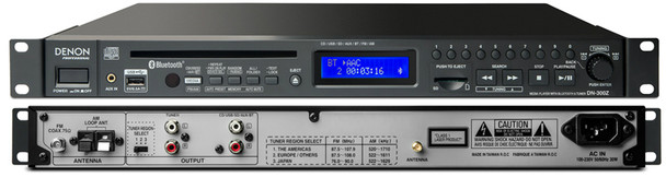 Denon Professional CD, SD, USB Player with BT and AM/FM Receivers, Single Play, Balanced Outputs, DN-300Z