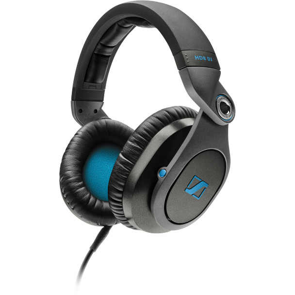 Sennheiser Closed pro audio headphone metal construction, swivel ear cups. designed for professional recording equipment, HD8DJ