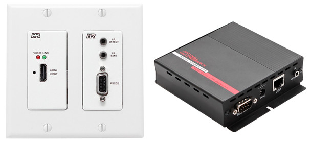 Hall Research HDMI over UTP Extender with HDBaseT and PoH (Wall Plate Sender + Receiver ), UHBX-WPC-P2