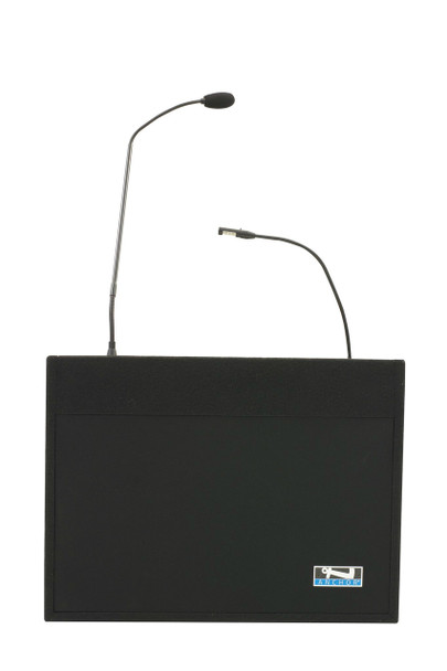 Anchor Audio Acclaim tabletop lectern with two built-in dual wireless mic receivers, ACL2-U4