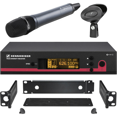 Sennheiser ew 135 G3 (SKM100 G3 handheld with e835 capsule and EM100 G3  receiver) with GA3 rack-mount kit  (518-558 MHz), EW135G3CC-A