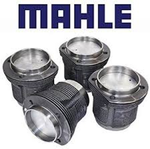 4 pistons & 4 cylinders type 1 set complete with rings, wrist pins and clips. Cast pistons 85.5 1584cc (1600)  Mahle set. Will also fit in the same place as 1500cc pistons, although your heads may need work to accept them (requires stock 1600cc 90mm opening @ block & 94mm opening @ head)