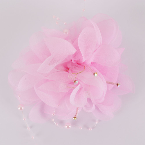 Pink Crystal Bead Fascinator