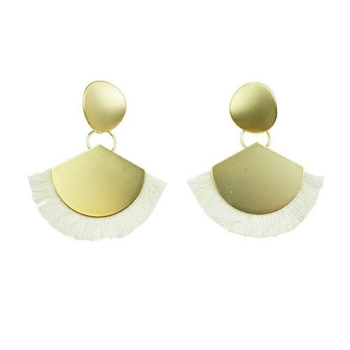 Loving My Gold Earrings With White
