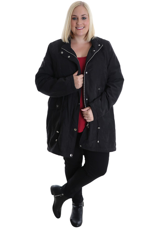 plus size black soft touch jacket